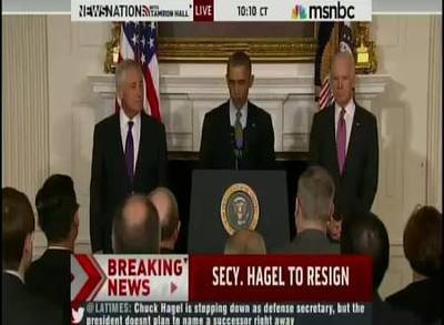 News video: Defense Secretary Chuck Hagel Resigns Amid Pressure
